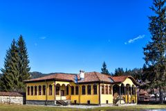 The old school in Koprivshtitsa town, Bulgaria Royalty Free Stock Images