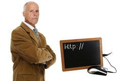 Old school laptop Royalty Free Stock Photography