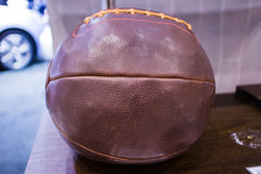 Old school leather football Royalty Free Stock Photo