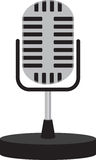 Old School Microphone Stock Image