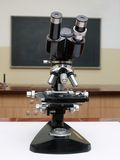 Old school microscope Stock Photos