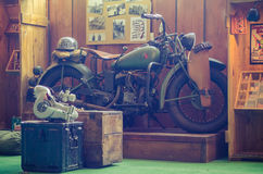 Old school motorcycle Stock Photo