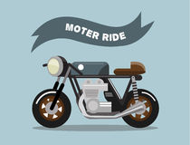 Old school motorcycle. Vintage Rider style. Stock Photo
