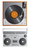 Old School Music Players Royalty Free Stock Images