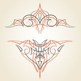 Pinstriping ornaments, vector set. Old school pin stripes graphic vector ornaments Stock Photos