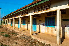 Old school in province Cambodia Sep 2015 Royalty Free Stock Images