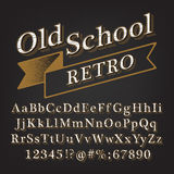 Old school Retro Alphabet Royalty Free Stock Image