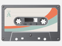 Old school retro cassette Royalty Free Stock Image