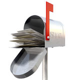 Old School Retro Metal Mailbox Full Royalty Free Stock Photography