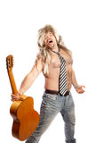Old school rock n roll singer Royalty Free Stock Photos