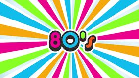 Old School 80s Vintage Motion Graphic Background stock video footage
