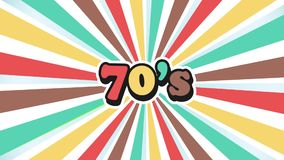 Old School 70s Vintage Motion Graphic Background stock video