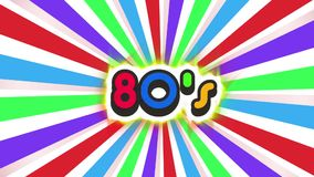 Old School 80s Vintage Motion Graphic Background stock footage