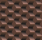 Old school seamless background, diamond - chocolate Stock Image