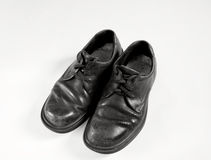 Old school shoes in black and white Stock Images