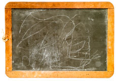 Old School Slate Chalkboard Royalty Free Stock Photo