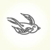 Old school swallow bird tattoo Royalty Free Stock Image
