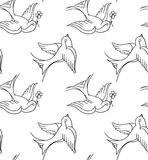 Old school tattoo background Royalty Free Stock Photos