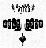 Old school tattoo Stock Images