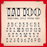 Old School Tattoo style font Stock Photo
