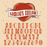 Old School Tattoo style font Stock Photography
