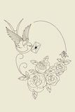 Old school tattoo symbols Royalty Free Stock Photos