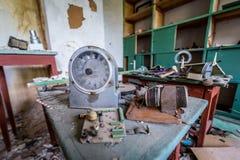 Old school in Zone of Alienation Stock Image