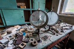 Old school in Zone of Alienation Royalty Free Stock Photo