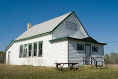 Old Schoolhouse. An old abandoned schoolhouse in a rural area Stock Photo