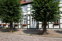 Old schoolhouse. Joachimsthal, Barnim, Brandenburg, Germany - old schoolhouse Stock Image