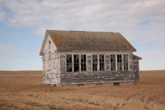 An old schoolhouse in Northeastern Montana Stock Image