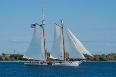 Old  Schooner under sail Stock Photography