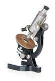 Old scientific microscope Stock Image