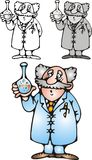 Old scientist Royalty Free Stock Image