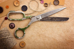 Old scissors Royalty Free Stock Images