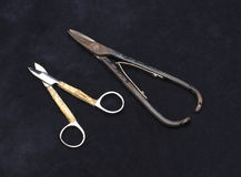 Old scissors Stock Photo