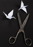 Old scissors Royalty Free Stock Photo