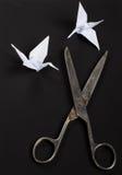 Old scissors Royalty Free Stock Photo