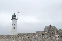 The Old Scituate Light on Cedar Point in Scituate, Massachusetts Royalty Free Stock Photo