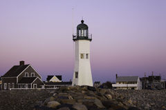 Old Scituate Lighthouse in at Dawn Royalty Free Stock Images