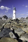 Old Scituate Lighthouse in New England Royalty Free Stock Photography