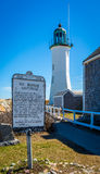Old Scituate Lighthouse Stock Photo