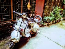 Old scooter royalty free stock photography