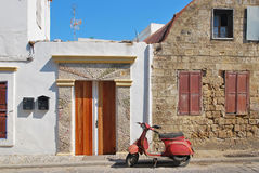 Old Scooter in Greece Royalty Free Stock Photo