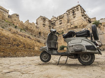 Old scooter in Jaisalmer Royalty Free Stock Image
