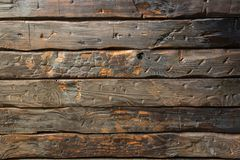 Old scorched wooden boards royalty free stock images