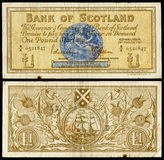 Old scottish bank note. High resolution scan of old scottish pound note royalty free stock photo