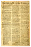 Old Scottish Newspaper. royalty free stock image