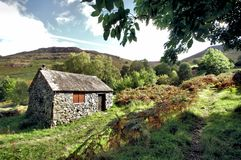 Old Scout Hut at  at Ashness Bridge Stock Photo