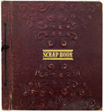 Old scrap book. Old art deco acrap book Stock Images